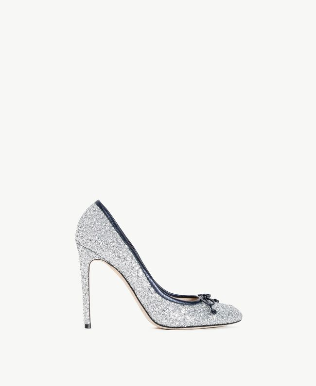 TWINSET Glitter court shoes Silver Woman CS8PLE-01