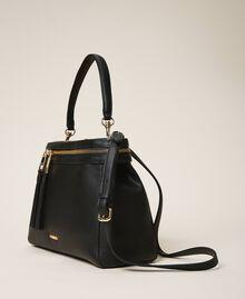 Large faux leather New Cécile bag Turtledove Woman 202TB7180-01