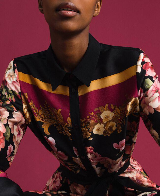 Robe chemisier longue avec imprimé foulard floral Imprimé Foulard Femme 192TP2604-04