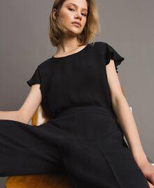 Pantalon avec papillons jacquard Noir Femme 191TT2140-05
