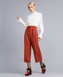 Pantaloni cropped in lana bistretch Bruciato Donna TA8271-02