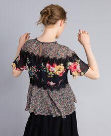 Blouse en crêpe georgette avec imprimé floral Imprimé Fleur Patch Femme PA82MH-03