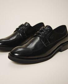 Туфли на шнуровке с декорированным каблуком Черный женщина 202MCT100-02