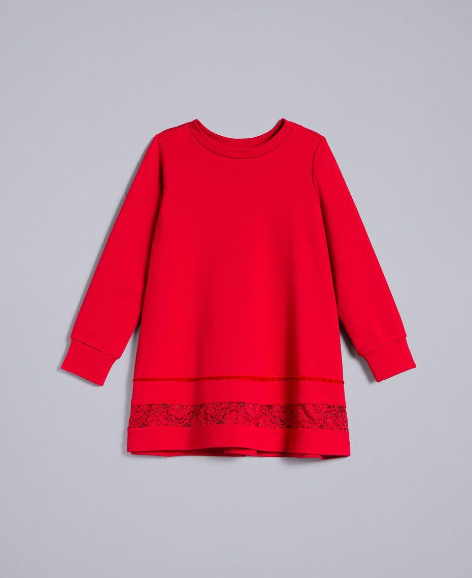 Блуза из хлопка с кружевом Красный Мак Pебенок FA821W-01