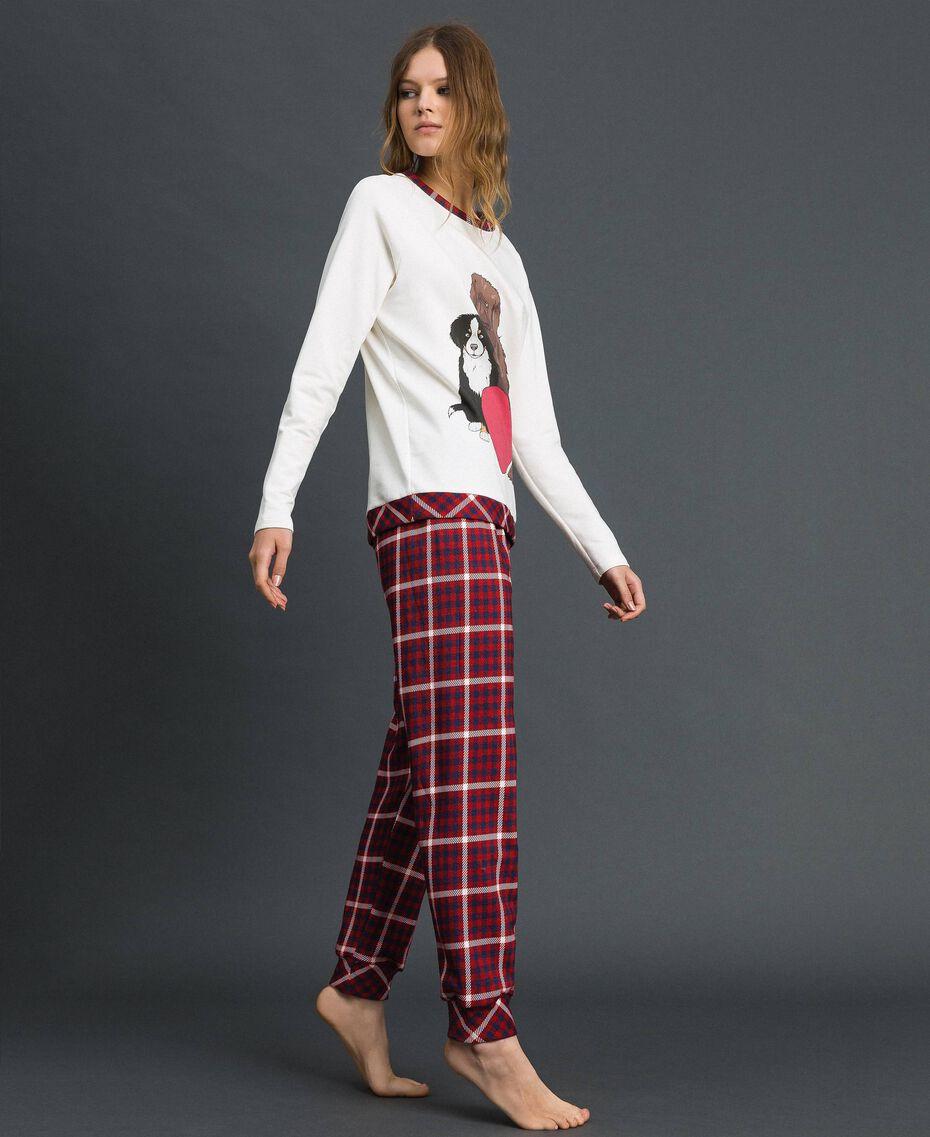 'Tury x Twinset' printed pyjamas White / Checks Woman 192LL21AA-02
