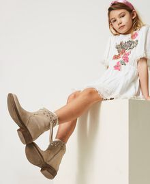 Leather Texas boots Incense Beige Child 211GCJ152-0S
