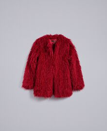 Chaqueta de pelo sintético Frambuesa Oscura Mujer TA82AU-0S