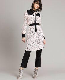 Robe chemisier avec imprimé flamants roses Imprimé Flamant Femme 191TP2760-01