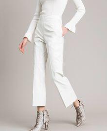 Pantalon en similicuir Blanc Femme 191TP2550-01
