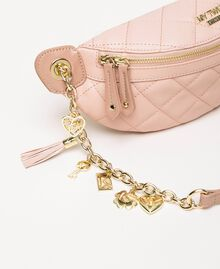Quilted faux leather belt bag with charms Black Woman 201MA7045-03