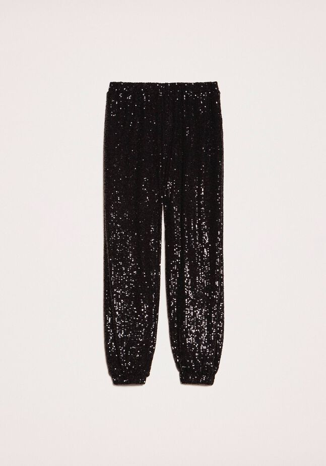 Sequinned joggers