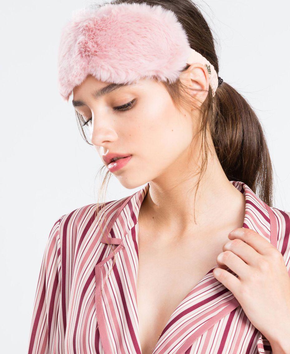 Masque en fausse fourrure Rose Ballerines Femme LA8ZHH-0S