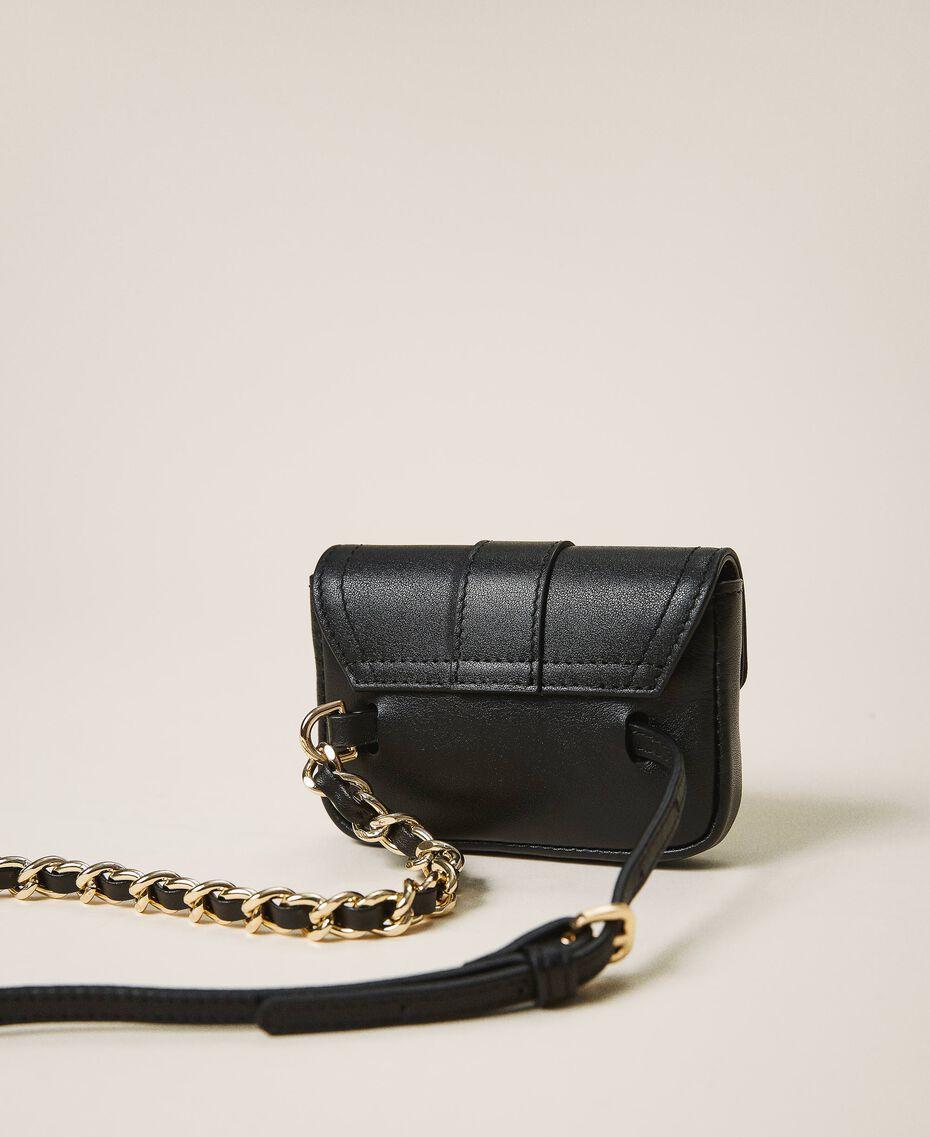 Cintura con catena e borsellino Mini Rebel Nero Donna 202TA434B-03