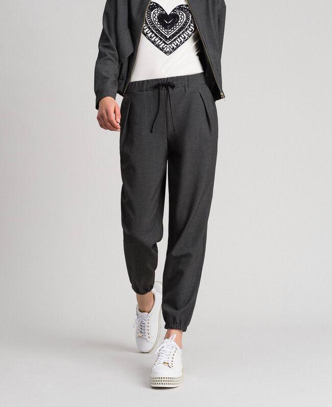 Jogging trousers Dark Gray Mélange Woman 192LI2SDD-01