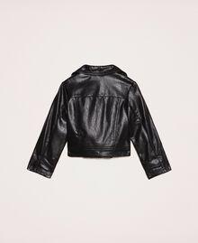 Байкерская куртка из искусственной кожи Черный Pебенок 201GB2110-0S