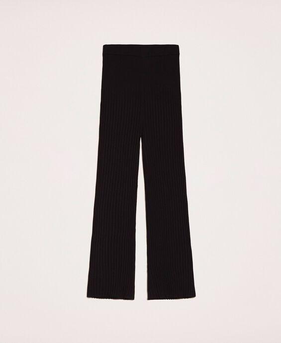 Pantalon en maille plissée