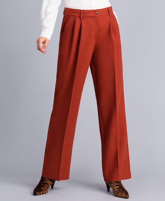 Широкие брюки из бистрейч-шерсти