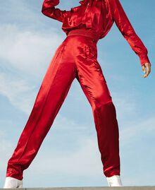 Pantalon en satin Noir Femme 202TP2144-01