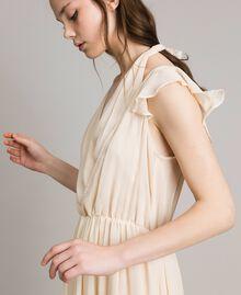 """Robe longue en crépon Beige """"Voie Lactée"""" Femme 191LB21HH-03"""