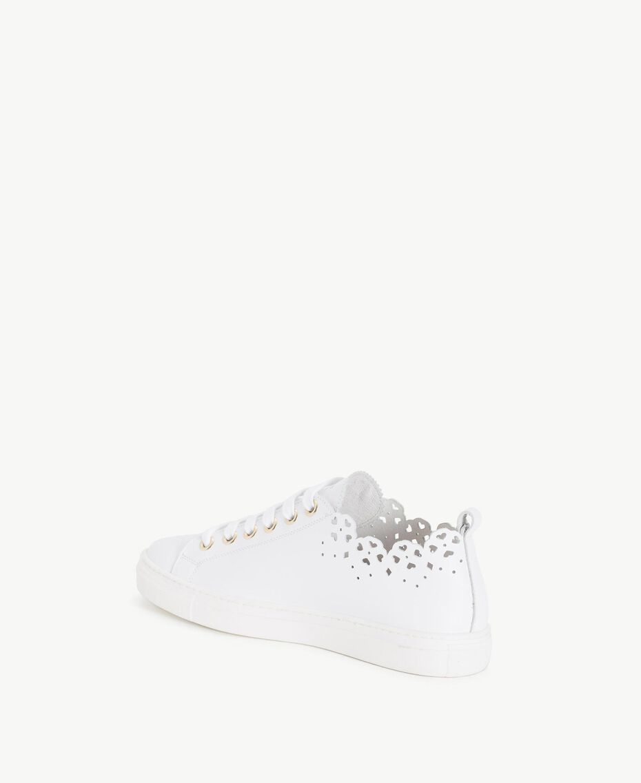 TWINSET Scalloped sneakers White Woman CS8TFY-03