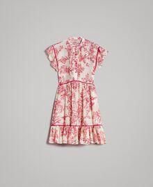 Kleid aus Seidenmischung mit Blumenprint Motiv Toile De Jouy Rot Frau 191TT2404-0S
