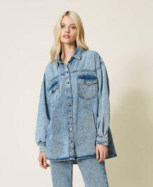 """Camicia in jeans Blu """"Denim Medio"""" Donna 212AP2391-07"""