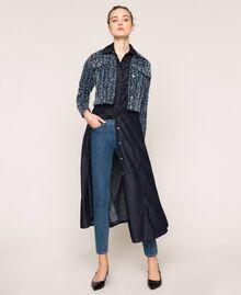 Giacca in jeans con bouclé Denim Blue Donna 201MP234A-0T
