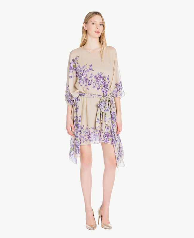 Printed kaftan Violet Edge Print Woman PS82XN-05