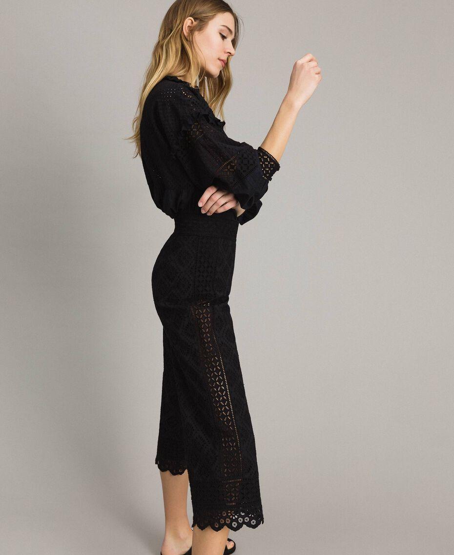 Pantalon en broderie anglaise Noir Femme 191TT2045-01