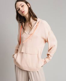 Crêpe sweatshirt with maxi pocket Delicate Pink Woman 191LL23AA-01