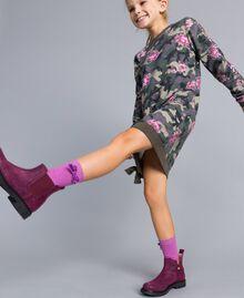 Bottines Beatles en cuir glacé Violet Raisin Doux Enfant HA88EA-0S