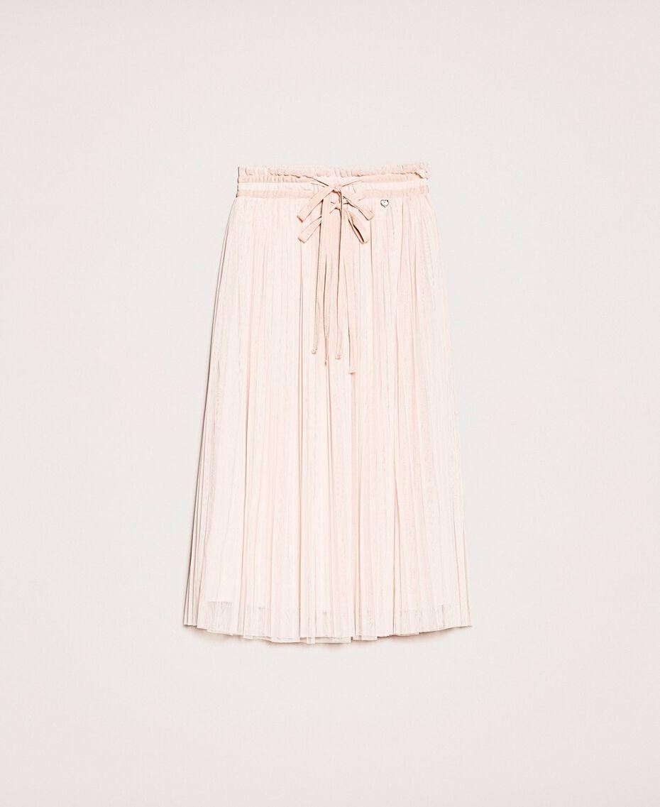 Pleated tulle midi skirt Quartz Pink Woman 201MP2122-0S
