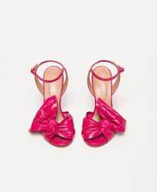 Patent leather sandals with maxi bow Black Cherry Woman 201TCP114-05