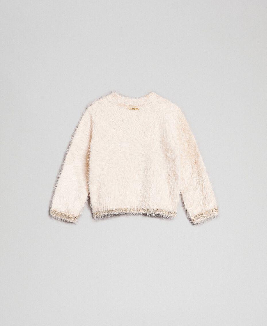 Fur effect yarn jumper Oat Child 192GB3060-0S