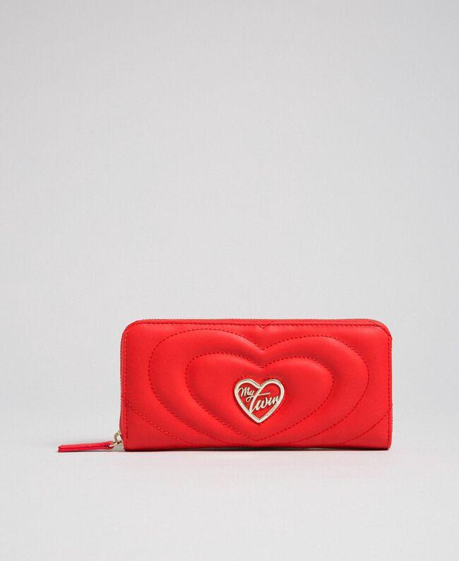 Portefeuille en similicuir Rouge Coquelicot Femme 192MA7087-01