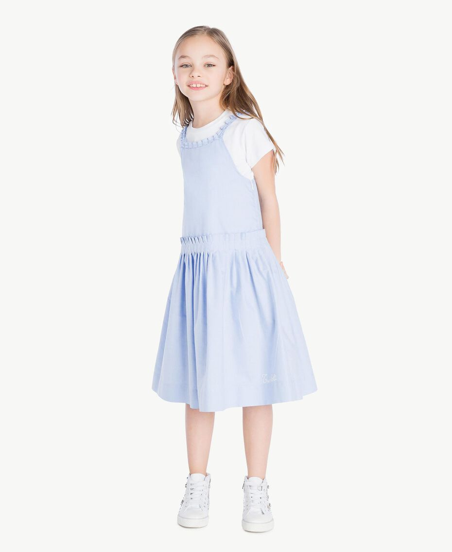 Ruched dress Infinite Light Blue Jacquard Child GS82QC-02