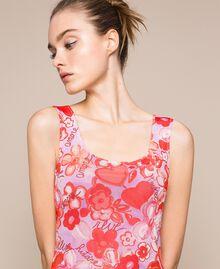 Floral tulle sheath dress Reve / Rose Print Woman 201TQ201F-04