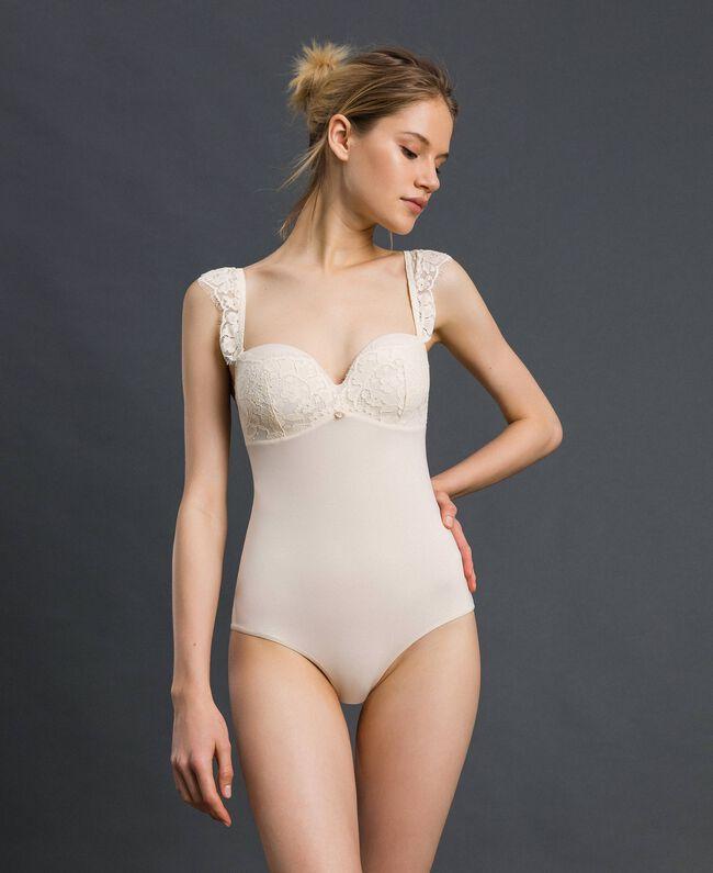 Body bandeau avec dentelle Crème Femme 192LI6100-01