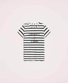 Striped maxi T-shirt with embroidery Capri Stripes Woman 201LM2LUU-0S