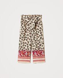 Pantalon avec imprimé animalier Imprimé Léopard & Cachemire Enfant 211GJ2249-0S
