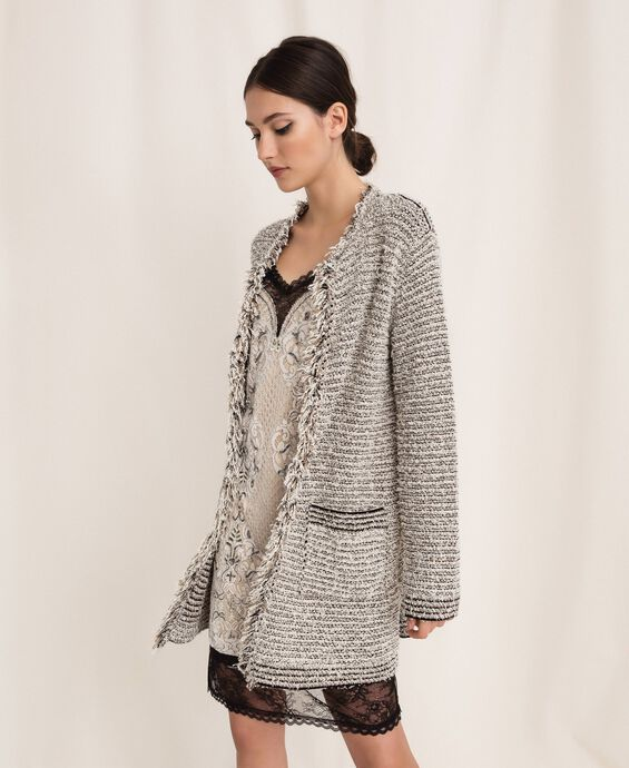 Twisted yarn jacket with lurex
