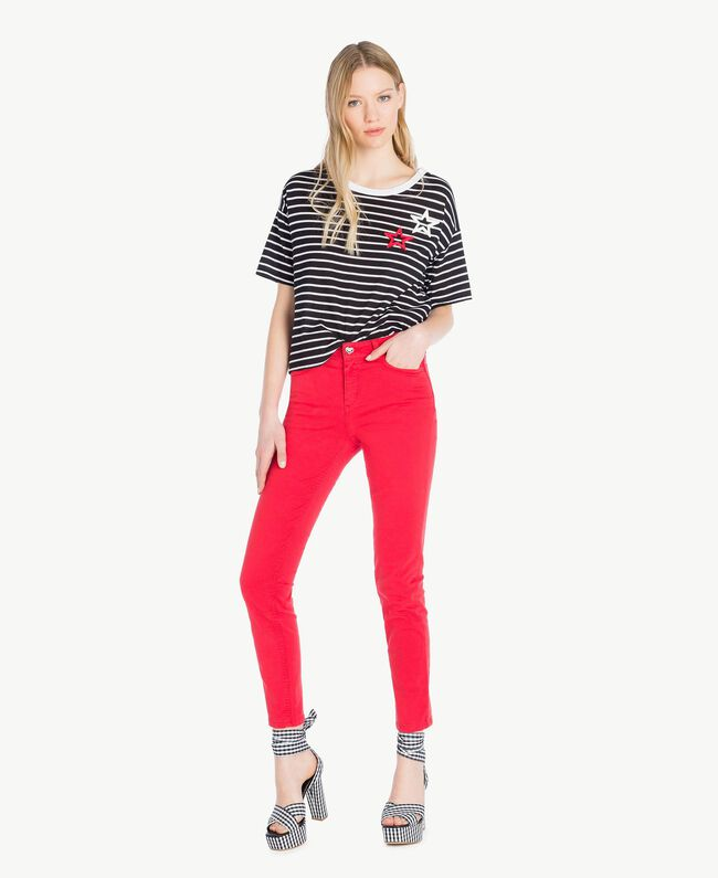 T-shirt rayures Rayure Noir / Blanc Optique Femme JS82RH-05