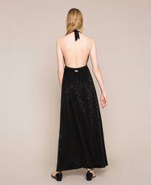 """Длинное платье с жаккардовым цветочным рисунком Оранжевый """"Витаминный"""" женщина 201LB2HAA-04"""