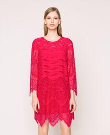 Macramé lace dress Black Cherry Woman 201TP2030-04