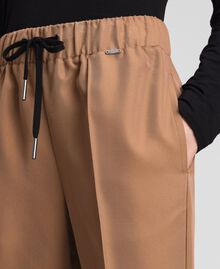 "Jogging trousers with elastic and drawstring ""Sequoia"" Beige Woman 192ST2203-04"