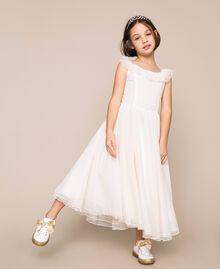 Plumetis tulle dress Pale Cream Child 201GJ2QD0-01
