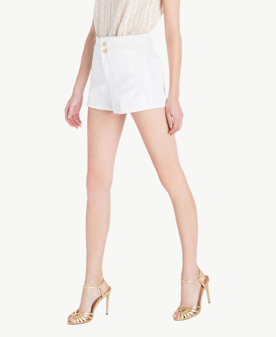 Shorts aus Baumwolle Weiß Frau TS82GC-02