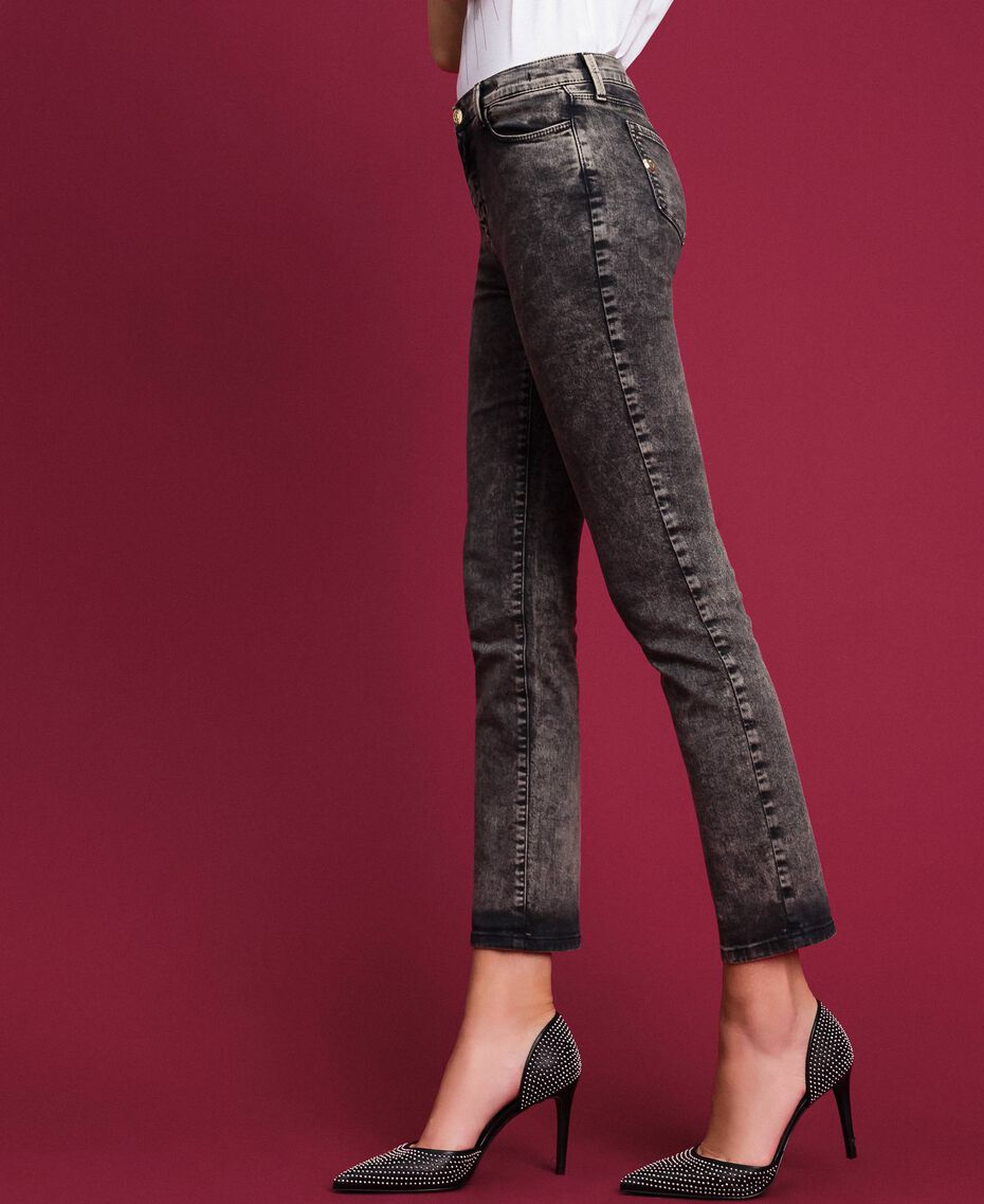 Push up jeans with five pockets Black Denim Woman 192MT2210-01