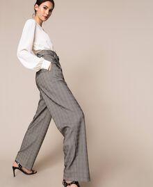 Glen plaid trousers Multicolour Glen Plaid Woman 201MP2062-02