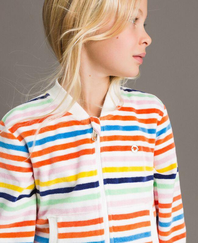 Sweat shirt à rayures multicolores Multicolore à Rayures Enfant 191GJ2223-04